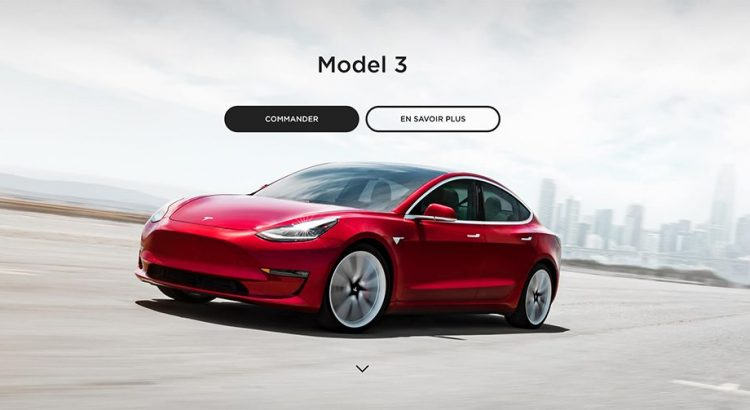 Configurateur Tesla Model 3 France