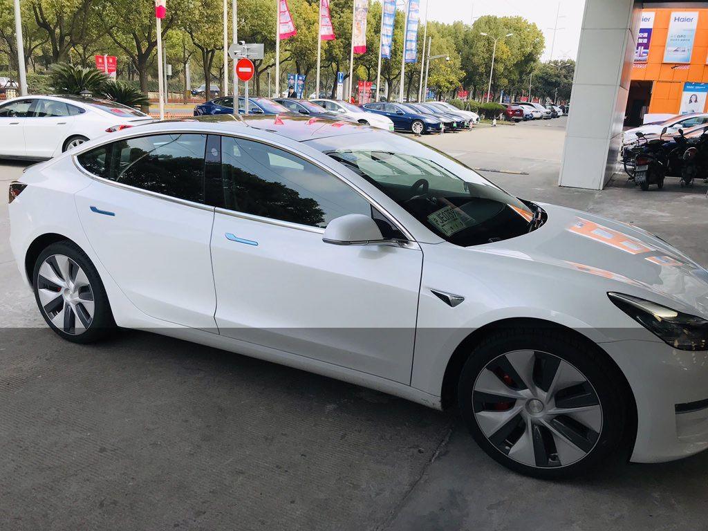 Tesla Model 3 Chine Asie 2019