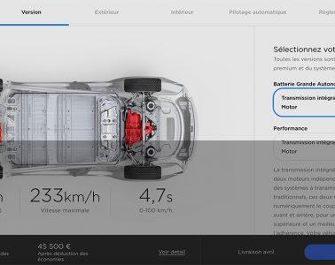 Tarifs Tesla Model 3 mars 2019