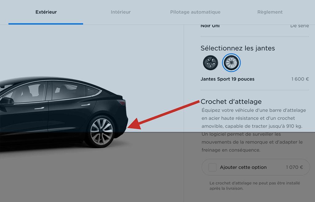 Crochet attelage Tesla Model 3-