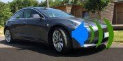 Voiture electrique Tesla son bruit roulement AVAS