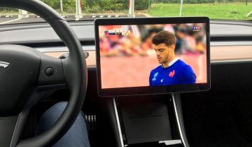 TV en direct en Tesla Model 3