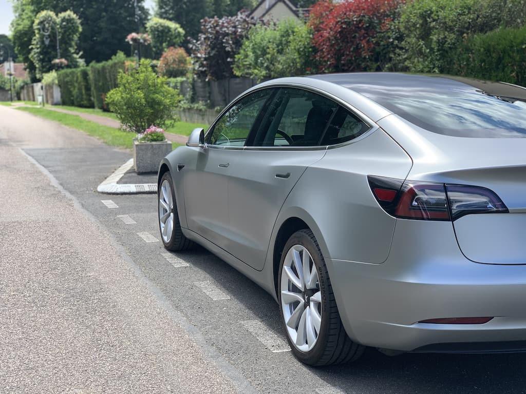 Tesla Model 3 Covering gris satiné