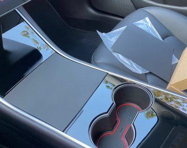 Console centrale noir mat Tesla Model 3