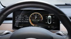 Dashboard Tesla Model 3 additionel