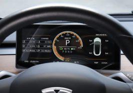Dashboard Tesla Model 3 additionel