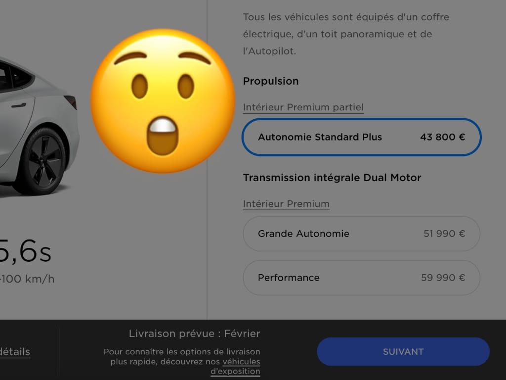 Baisse tarifs Tesla Model 3 2021