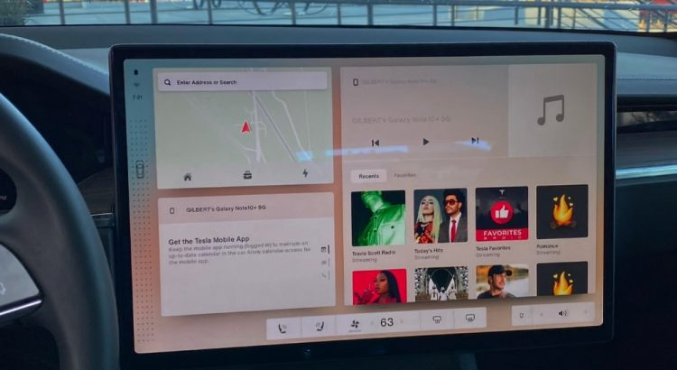 Nouvelle interface Tesla v11 2021
