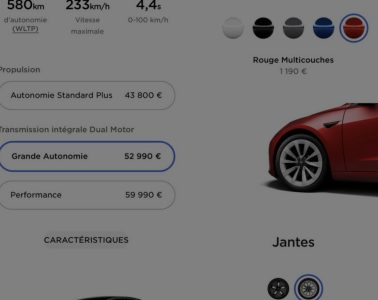 Tarifs Tesla Model 3 2021 Avril