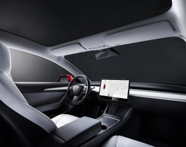 Intérieur blanc Tesla Model 3