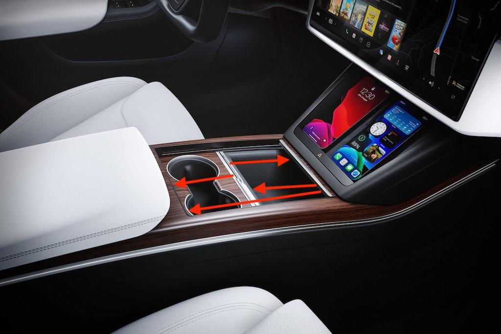 Console centrale Tesla Model S 2021 2022