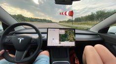 Vent consommation Tesla Model 3