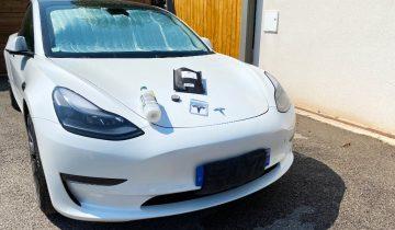 Tesla Model 3 Performance cigles logos noir-3