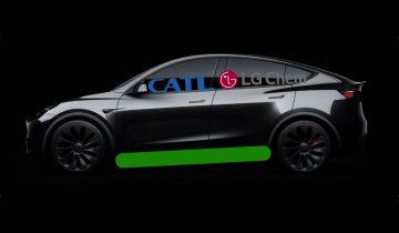Batteries Tesla Model Y CATL LFP LG Pana